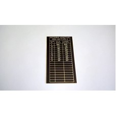 RT316 PRC316 ANTENNA LENGTHS CHART ON ALLOY PLATE FOR TYPE E VERSION